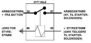 Diagram for nytt relé